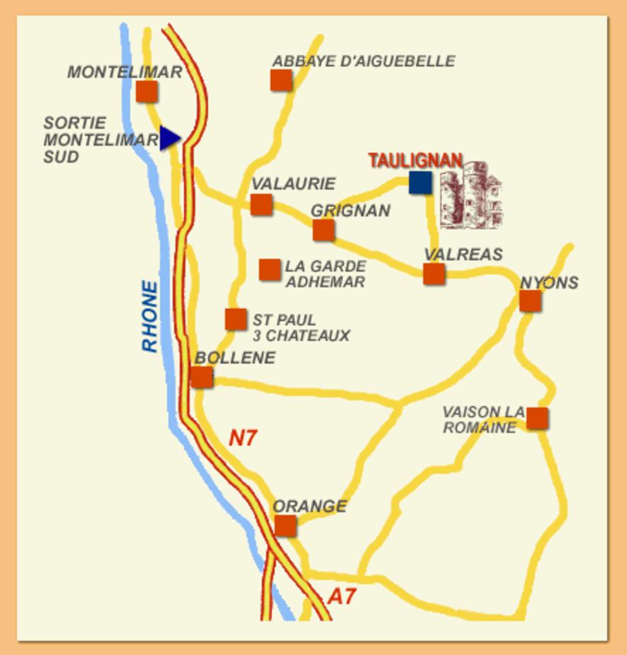 Plan d'accès Mairie Taulignan